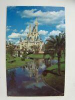 Vtg 1977 Walt Disney World WDW Cinderella Castle with Moat Postcard