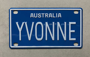 YVONNE Novelty Mini Number Plate