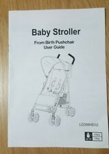 Baby Stroller Pushchair user guide - LD399HE02, instructions booklet