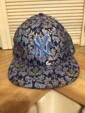 New York Yankees New Era Fitted Hat Blue With Silver Flowers New With Tags 8