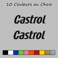 2 Stickers Castrol Logo Decal CAS02 OLD auto moto pegatinas Couleurs au choix
