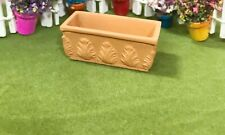 Dollhouse Miniature Rectangle Terra Cotta Flower Box #4