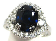Sapphire Ring Royal Blue 18K white gold Museum CERTIFIED Heirloom 4.82ct $28,947