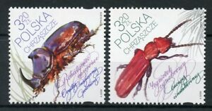 Poland 2018 MNH Beetles 2v Set Beetle Insects Stamps