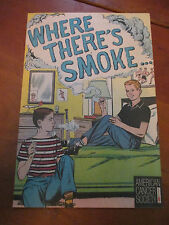 """1965 AMERICAN CANCER SOCIETY """"WHERE THERE'S SMOKE..."""" COMIC"""