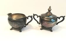 W.M Rogers ~Silverplate~Sugar Bowl and Creamer SET~BEAUTIFUL