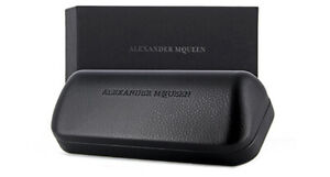 Alexander McQueen Sunglasses / Glasses Black Hard Case with Box & Soft Pouch NEW