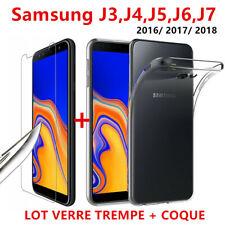 Samsung J4 J6 Plus J3 J5 J7 + Pellicola Vetro Temperato Vetro Schermo Protezione