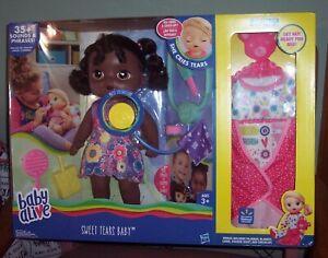 Baby Alive Sweet Tears Baby African American Exclusive Bonus Value Pack NEW