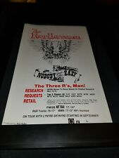 The Four Horsemen Nobody Said It Was Easy Rare Radio Promo Poster Ad Framed! #3