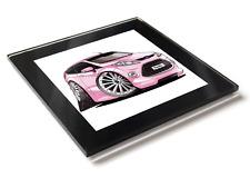 Koolart Cartoon Car Ford Fiesta Mark 7 Glass Table Coaster With Gift Box