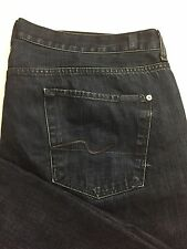 7 Seven For All Mankind Austyn Mens Size 40x27 Dark Indigo Relaxed Made In Italy