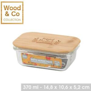 370ML Air Tight Glass Food Container With Bamboo Lid