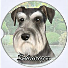E&S Pets Absorbent Car Coaster Dog Breed Stoneware Schnauzer Uncropped Ears