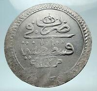 1774-1784 TURKEY Sultan Abdul Hamid I Ottoman Empire Silver 2 Zolota Coin i80878