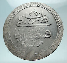 1774-1784 TURKEY Sultan Abdul Hamid I Ottoman Empire Silver 2 Zolota Coin i80878