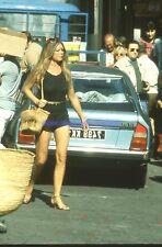 BRIGITTE BARDOT 80s DIAPOSITIVE DE PRESSE VINTAGE SLIDE PAPARRAZI  ST TROPEZ #38