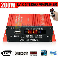AUX + Bluetooth 200W USB HIFI High Power FM Stereo Audio Radio Digital Amplifier