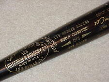 1965 Los Angeles Dodgers H&B World Series Black Bat Sandy Koufax Drysdale