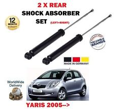 FOR TOYOTA YARIS 1.0 1.3 1.8 VVTI 1.4 D4D 2005->NEW 2 X REAR SHOCK ABSORBER SET