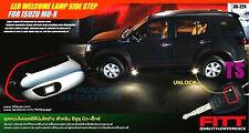 FITT SET CHROME LED LAMP WELCOME SIDE STEP DOOR FOR ISUZU MU-X MUX SUV 2014-2015