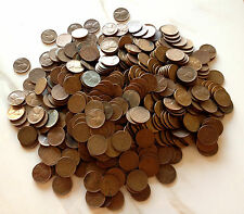 10 Roll Collection: 500 Lincoln Wheat Cent Coin Lot Mixed Mint Marks : 1909-1958