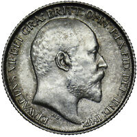 1910 SIXPENCE - EDWARD VII BRITISH SILVER COIN - V NICE