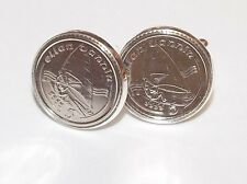 Wind Surfing Cufflinks for the keen wind surfer made from real coins Great Gift