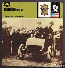 HENRY LELAND 1843-1932 Car Photo History CARD CADILLAC