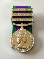 Mounted Full Size GSM Medal, Northern Ireland & Borneo & Malay Peninsula Clasps