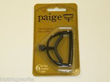 Paige P6E Guitar Capo Acoustic Electric Black New ~Free Shipping To U.S.A.~