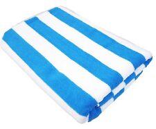 Stripe 100% Cotton 75X150cm Large Aqua Blue Striped Pool Beach Bath Towel Towels