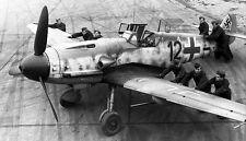 B&W WW2 Photo WWII German Luftwaffe Me109 France 1943 Messerschmitt Bf109