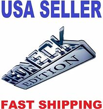 REDNECK EDITION EMBLEM white / GMC car TRUCK logo DECAL SIGN CHROME ornament sv.