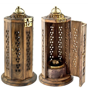 Brass Screen Charcoal Tower Burner for Resin Incense