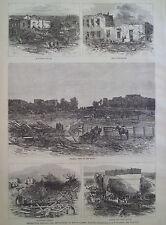 TORNADO DEVASTATION MOUNT CARMEL ILLINOIS 1877 HARPER'S WEEKLY