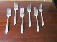 Oneida REVERIE Set of 6 Salad Forks Nobility Silverplate Flatware Lot E