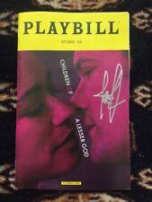 Joshua Jackson (Dawson's Creek) Signed Children Of A Lesser God Playbill