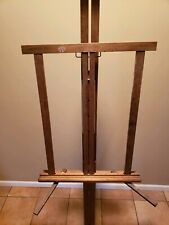 """Vintage 1950'S Anco Bilt Wooden Standing And Table Top Art Easels 78"""" and 21"""""""