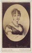 Reine Hortense Photo albuminée d'après dessin Cdv par Charles Jacotin Paris