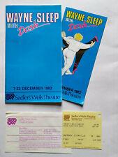Wayne Sleep With Dash Sadlers Wells Theatre Programme Leaflet And Ticket 1982