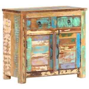 vidaXL Sideboard 70x35x65cm Solid Reclaimed Wood Commode Side Storage Cabinet