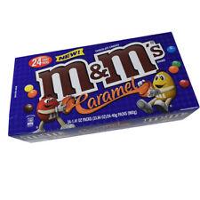 910804 BOX 24 x 40g PACKETS OF CARAMEL M&M'S CHOCOLATE CANDIES MARS AMERICAN