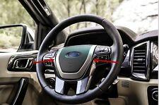 Sliver Matt steering wheel Moulding Cover trims for Ford Everest 4Dr SUV 2015-16