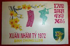 Greeting Card - Tet 1972 - Arvn - Tiger Force Airborne Para - Vietnam War - 3461