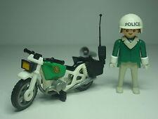 Policia Motorista Antiguo Playmobil System Comisaria Oficial Agente
