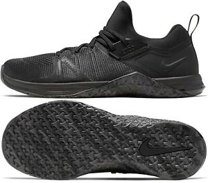 NIKE METCON FLYKNIT 3 BLACK CROSSFIT/WEIGHTLIFTING SIZE 10 NEW (AQ8022-010)