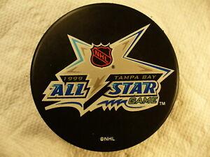 NHL 1999 All Star Game Tampa Bay Souvenir League Logo Hockey Puck Collect Pucks