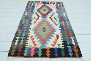 """Turkish Small Kilim, Doormat, Bathmat, Small Rug, Carpet, Teppiche Tapis 33""""x54"""""""