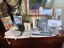 Nintendo Wii Console RVL-001 +2 Games+Accessories HUGE Bundle LOT VG+Shape